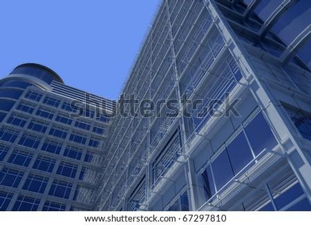 Modern building on a background sky - stock photo