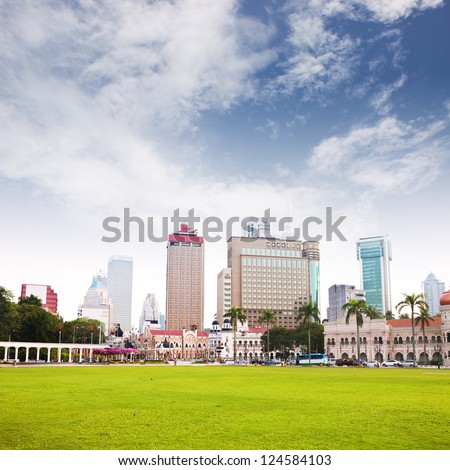 modern building with sky - stock photo