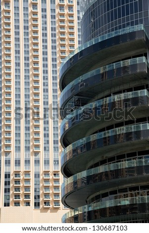 modern buildings close up - stock photo