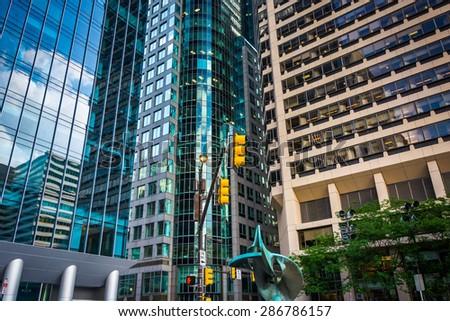 Modern buildings in City Center, Philadelphia, Pennsylvania. - stock photo