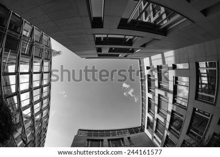 Modern Buildings in Munich, Germany - stock photo