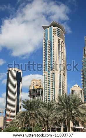 Modern  Buildings rising in Dubai UAE - stock photo