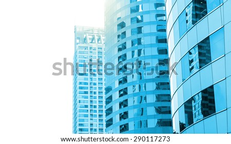 Modern business building of skyscrapers, Business concept of architecture - stock photo