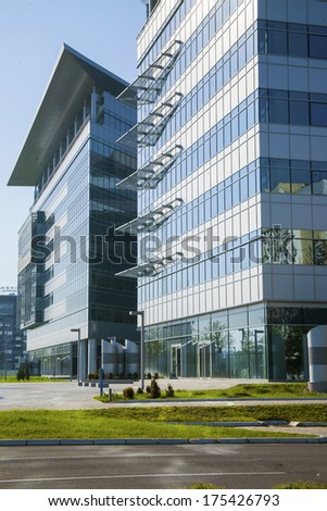 Modern business buildings exterior - stock photo