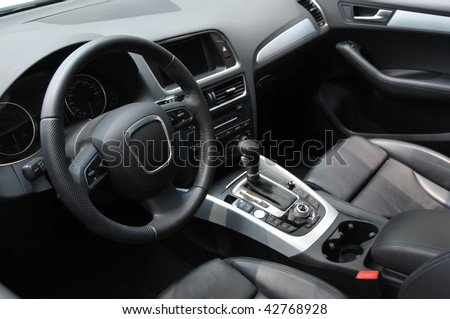 Modern business car interior - stock photo