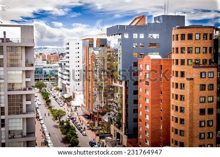 modern business center in Quito Ecuador South America - stock photo