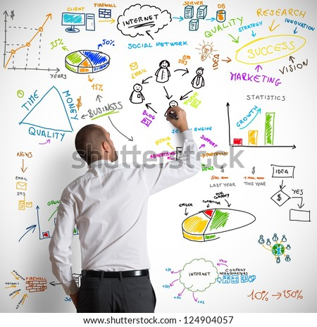 Modern business concept - stock photo
