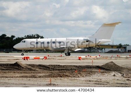 Modern business jet - stock photo