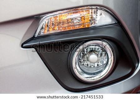 modern car fog lamp - stock photo