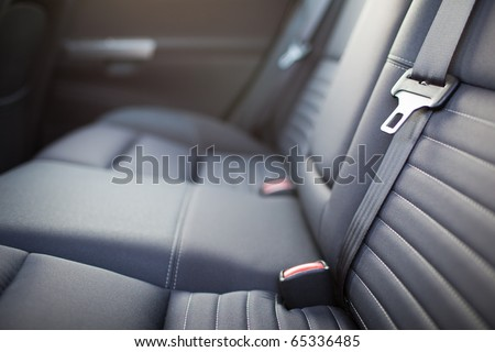 Modern car interior (shallow DOF - selective focus; color toned image) - stock photo