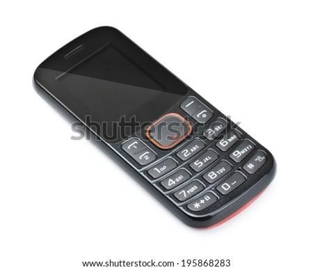 modern cell mobile phone isolated on white - stock photo