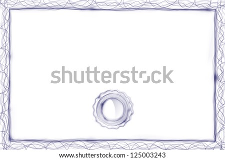 Modern certificate with empty space for copy text. - stock photo