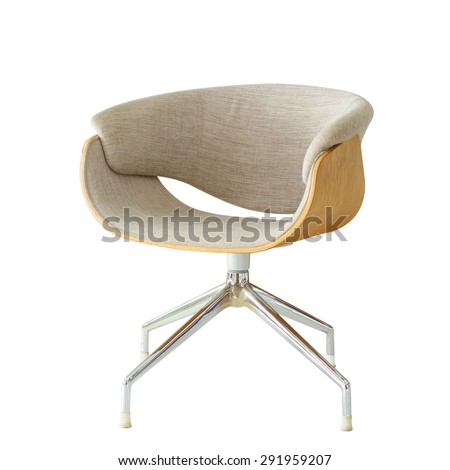 Modern Chair isolated. - stock photo