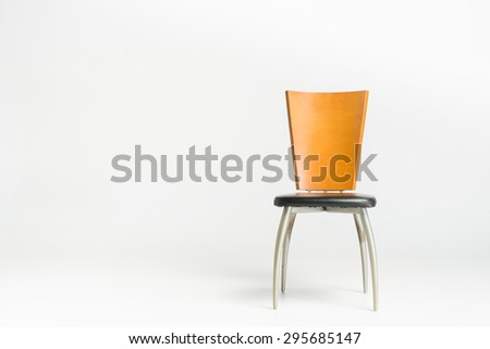 modern chair with white background - stock photo