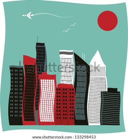 Modern city buildings. - stock photo