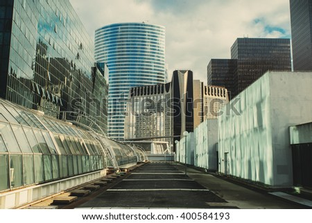 Modern city business district.  - stock photo