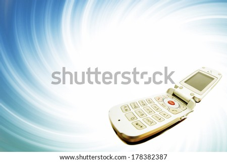 Modern clamshell cell phone - stock photo