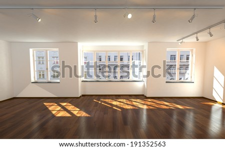 Modern cleaned old buliding flat. - stock photo