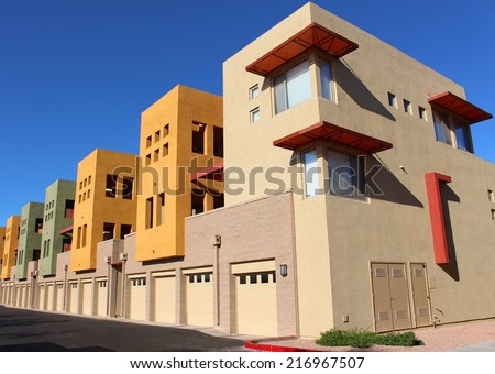 Modern Colorful Apartment - stock photo