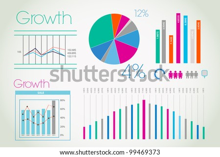 Modern colorful infographic - stock photo