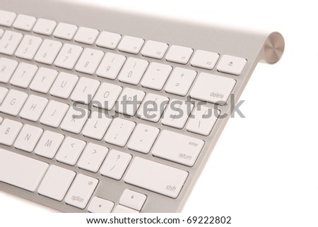 modern computer keyboard isolated on white background - stock photo