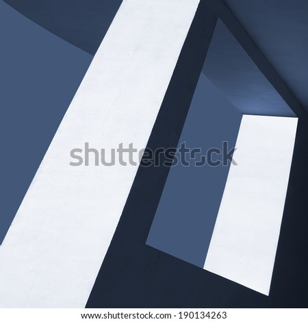 modern concrete construction - stock photo