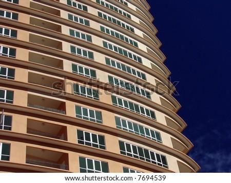 Modern condominium resort closeup - stock photo