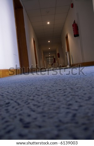 Modern corridor in the hotel - stock photo