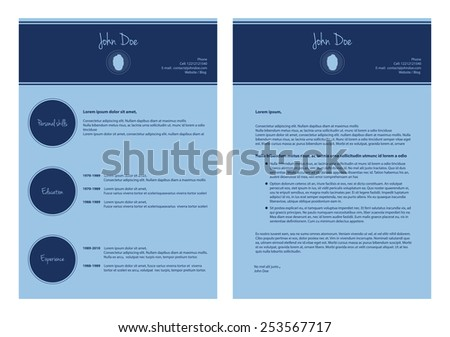 modern cv template, special resume design - stock photo