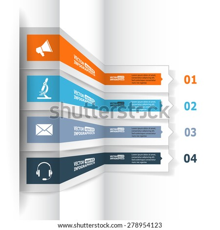 Modern 3d infographics for e-business, diagrams, charts, web sites, mobile applications, banners, corporate brochures, book covers, layouts, presentations etc. Raster illustration - stock photo