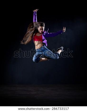 Modern dancer girl (normal version) - stock photo