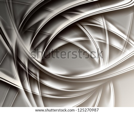 modern dark background with abstract smooth lines - stock photo