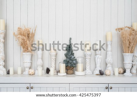 modern decoration on wooden background with copy space for montage your text. - stock photo