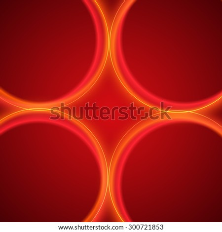 Modern Design geometric style template on gradient red circle background with space place for your text. Image illustration for title page newsletter for new products or sales, electronic theme - stock photo