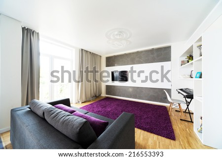 Modern design interior of living-room - stock photo