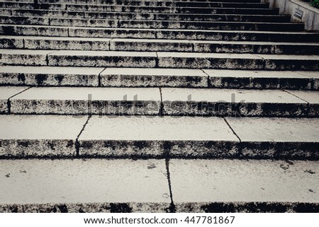 modern design of handrail and staircase  - stock photo