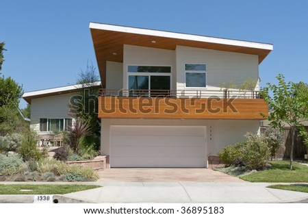 Modern Designed Home - stock photo