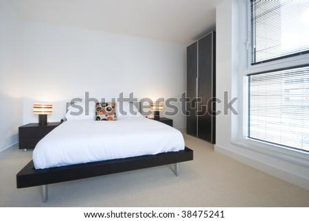 modern designer bedroom - stock photo