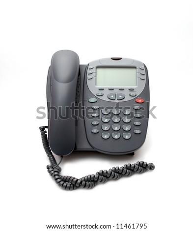 Modern digital phone on the white - stock photo