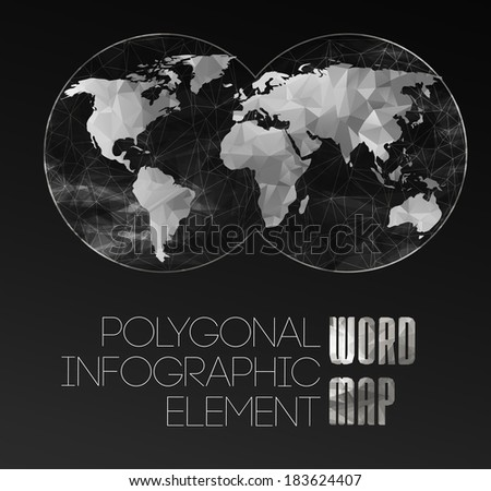 Modern elements of info graphics. World Map and typography - stock photo