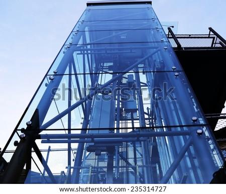 Modern elevator - stock photo