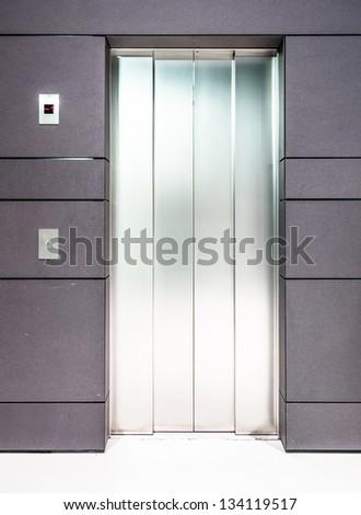 modern elevator door - nice background - stock photo