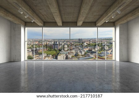 Modern, empty luxurious apartment at day. - stock photo