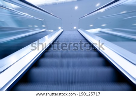 modern escalator  - stock photo