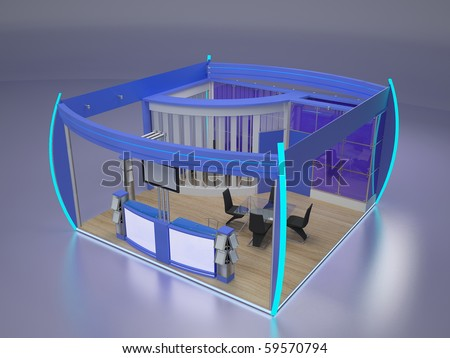 Modern exhibition stand. - stock photo