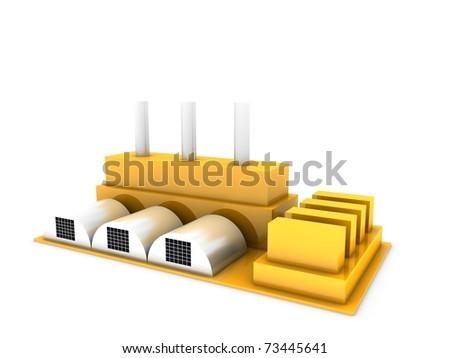 modern factory - stock photo