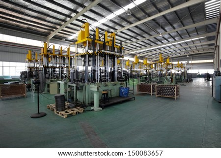 Modern factory workshop - stock photo