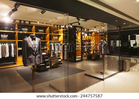 modern fashion shop storefront and showcase                 - stock photo