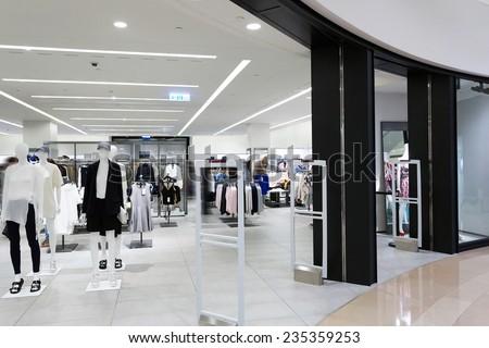 modern fashion shopfront view - stock photo