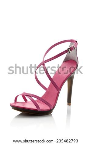 Modern fashionable women shoe shot in studio - stock photo